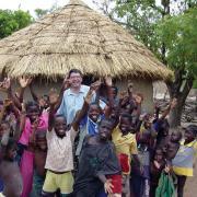 Bernard Amadei and children in Belize