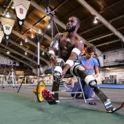 Blake Leeper takes a rest on a chair
