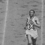 David Bolen finishing Men's 400 at 1948 Olympics