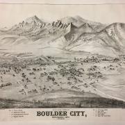 Old map of Boulder