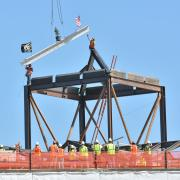 Topping-off ceremony at Folsom Field
