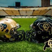 CU football helmets