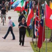 flags for conference world affairs