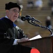 distefano speaking at commencement