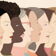 side profiles of a diverse group of women