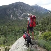 Trevor Thomas and his guide dog Tennille