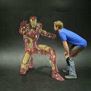 Chris with Iron Man, Centered