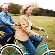 elderly bike riders