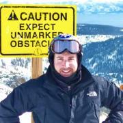 Jonathan Treisman on a snowy mountain