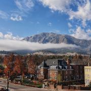 misty campus photo