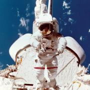 Astronaut Bruce McCandless during a Challenger space shuttle mission