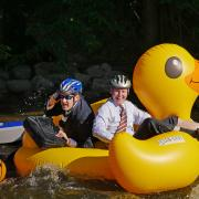 Tube to Work Day in Boulder