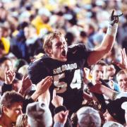 Sean Tufts celebrating a CU victory