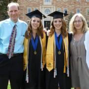 Faliano twins at graduation
