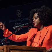Viola Davis speaks at CU