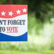 vote lawn sign