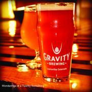 Fresh pint at Gravity Brewing