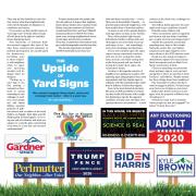 Image with yard signs