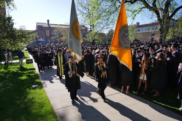 2017 commencement procession