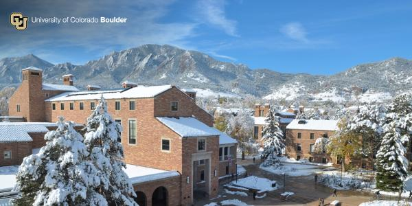 UMC and Flatirons in the snow