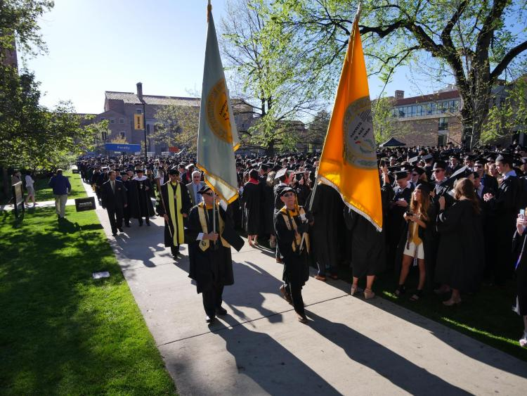 Commencement student processional