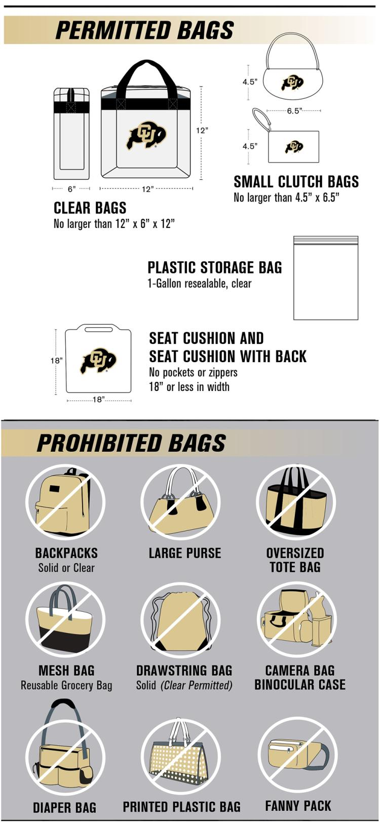 Allowed Items at Folsom Field