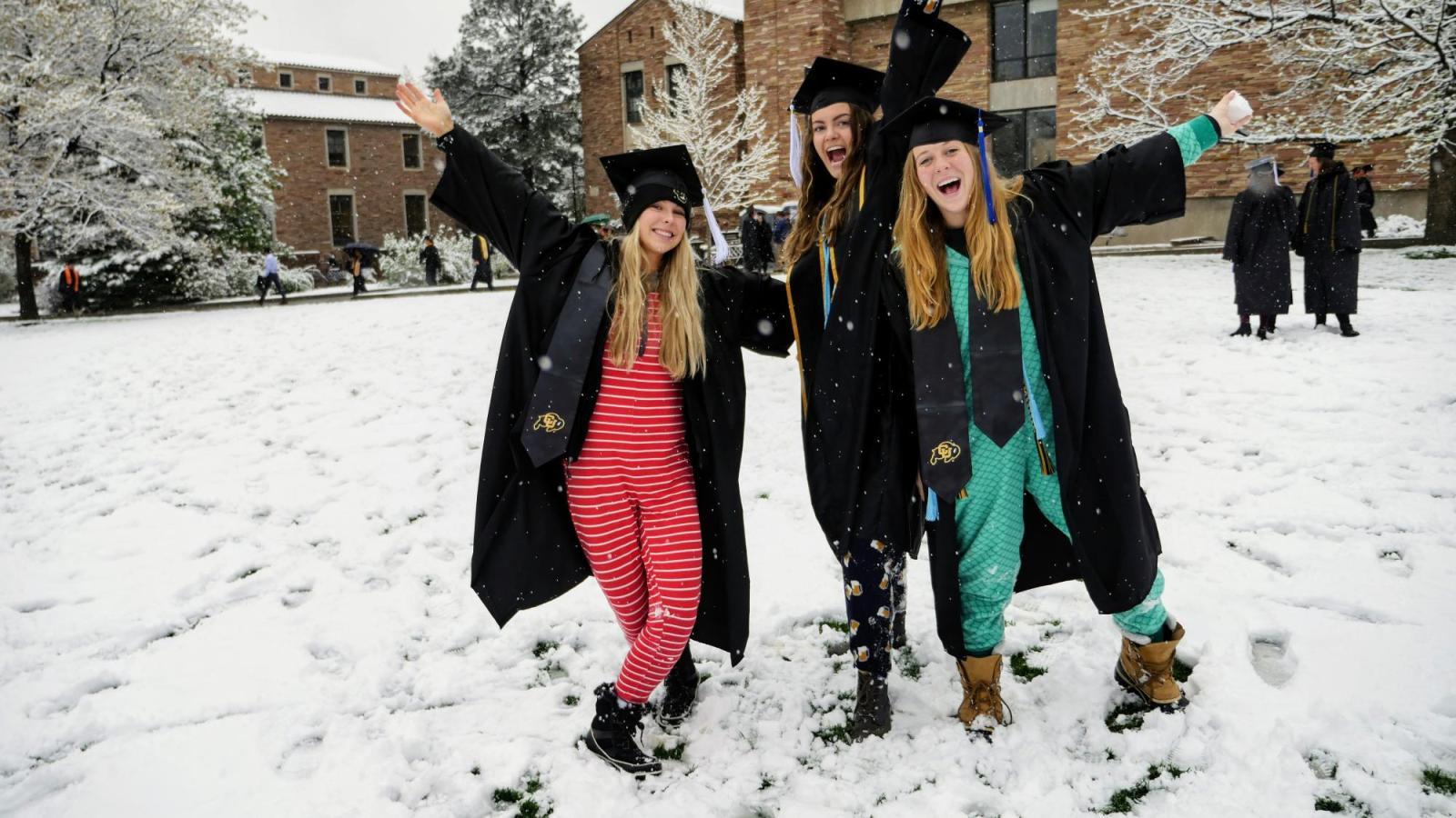 Grads in snow