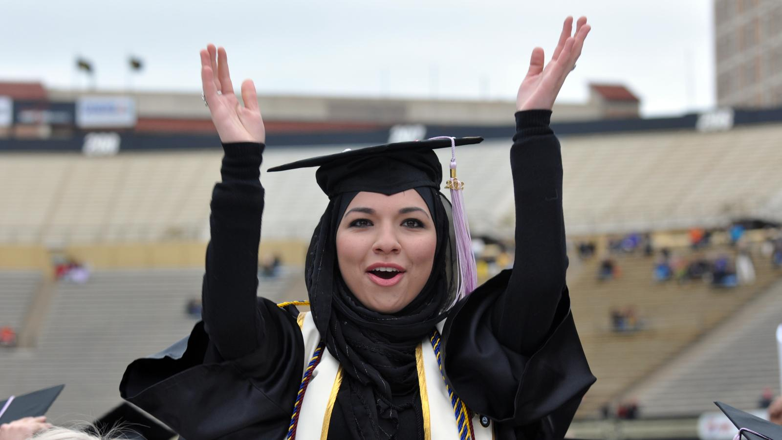 Graduate in Folsom Field