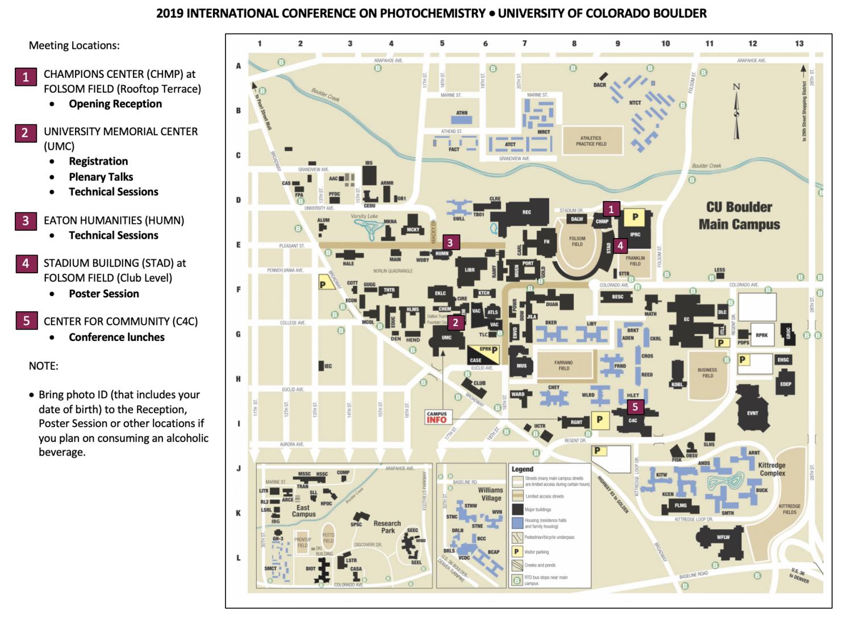 Campus Map Cu Boulder Conference Map & Info | ICP 2019 | University of Colorado Boulder