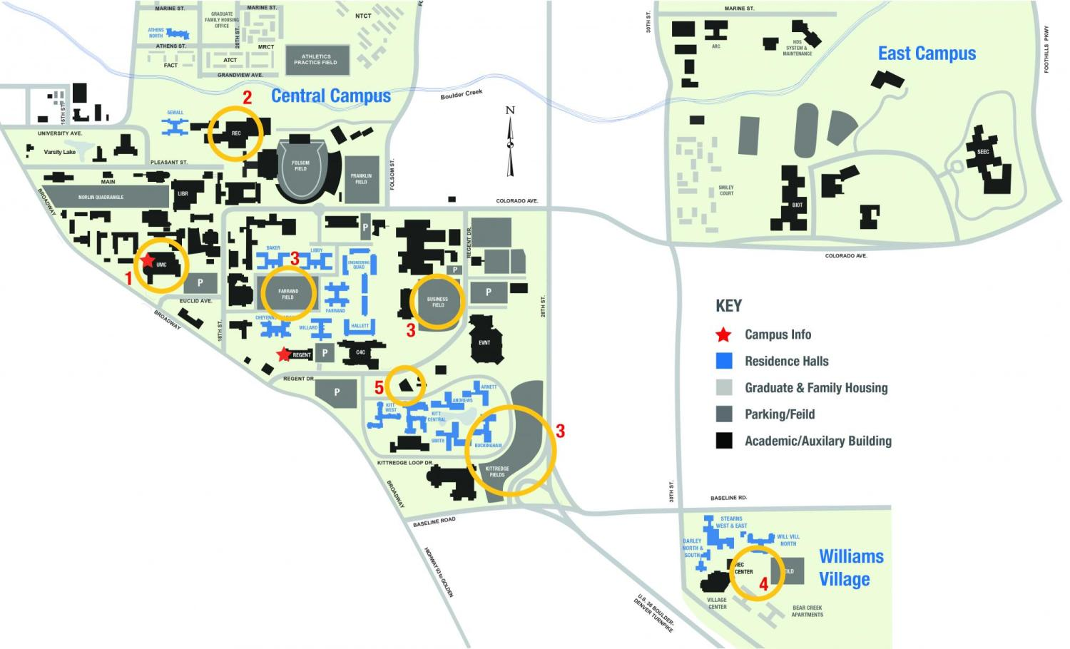 Maps & Locations | Conference Services | University of Colorado Boulder