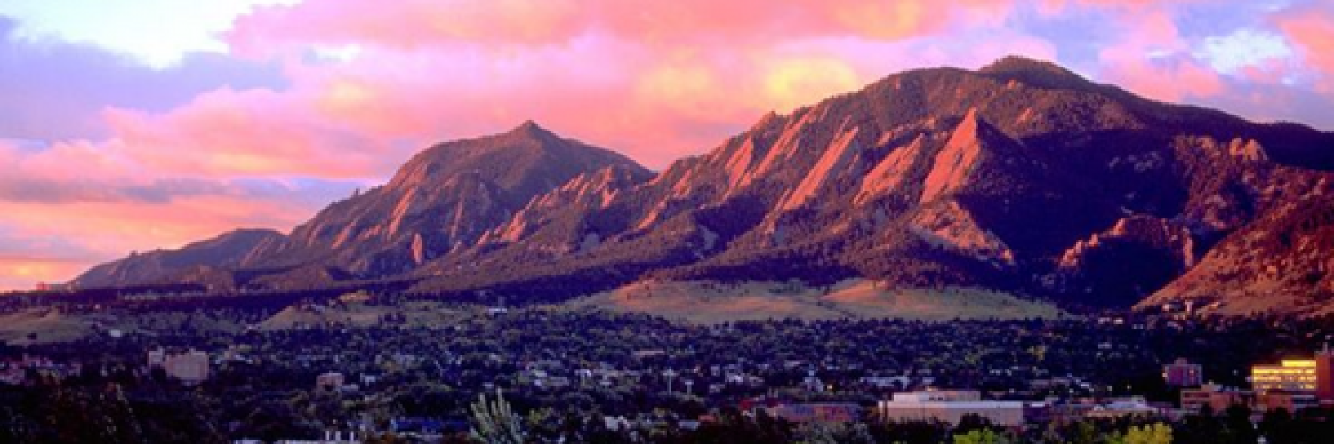 Flatiron Mountains at sunset