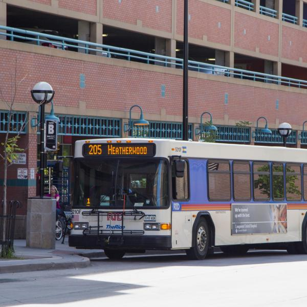 RTD bus in front of downtown station