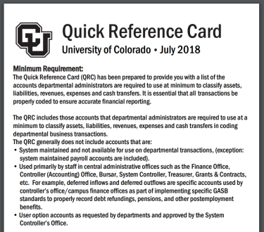 Image of the quick reference card