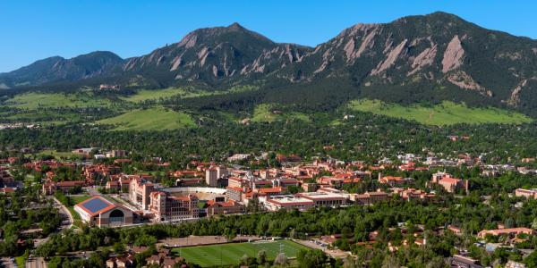 aerial photo of CU