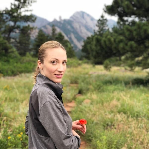 Layne hiking in Boulder.