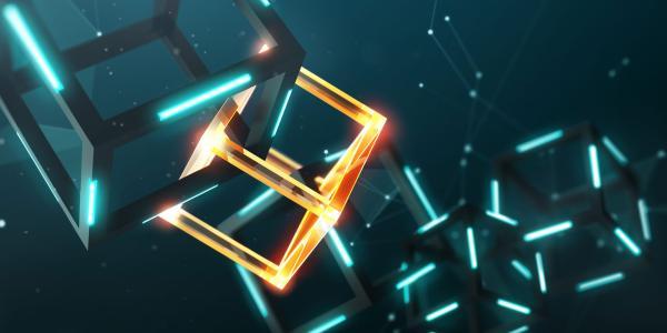 3 dimensional chain of cubic blocks