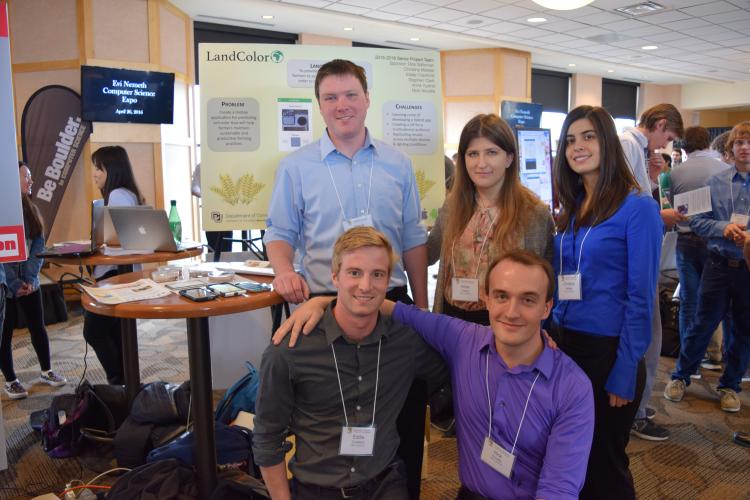 Landcolor's five creators pose for a group photo during the 2016 Computer Science Expo