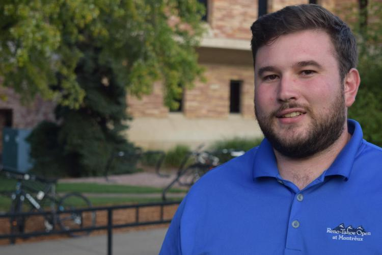 Student Aaron Mangione at CU