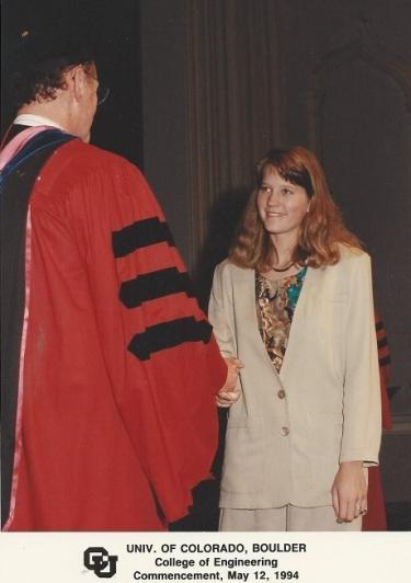 Teresa Hogan at her graduation in 1994