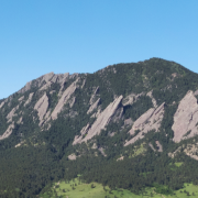 Aerial view of the Flatirons