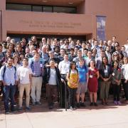 A group shot of the workshop participants on the NCAR steps.