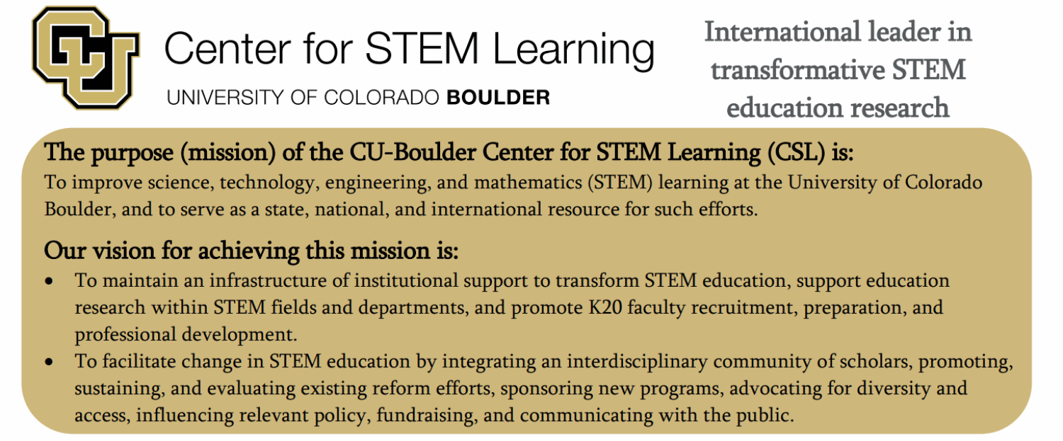 About the Center for STEM Learning