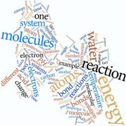 "Word cloud representing ""Chemistry, Life, the Universe, and Everything."""