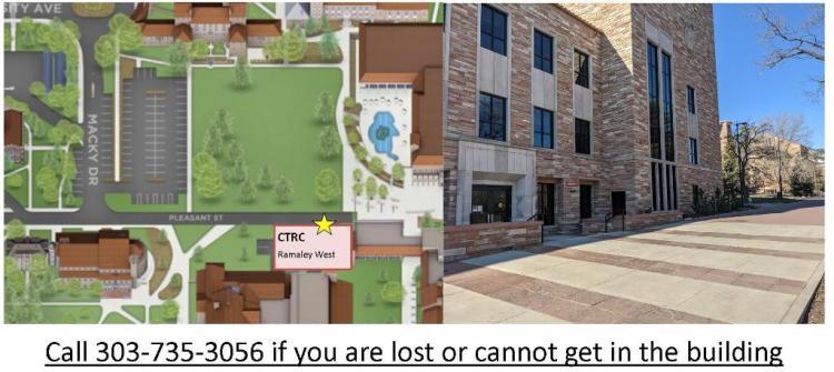 CTRC Parking Lot 380, building entrance, Ramaley West Expansion