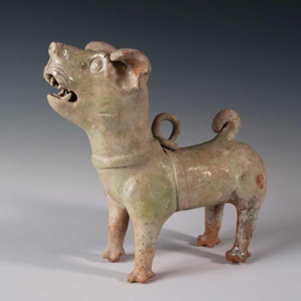 ancient Chinese ceramic dog