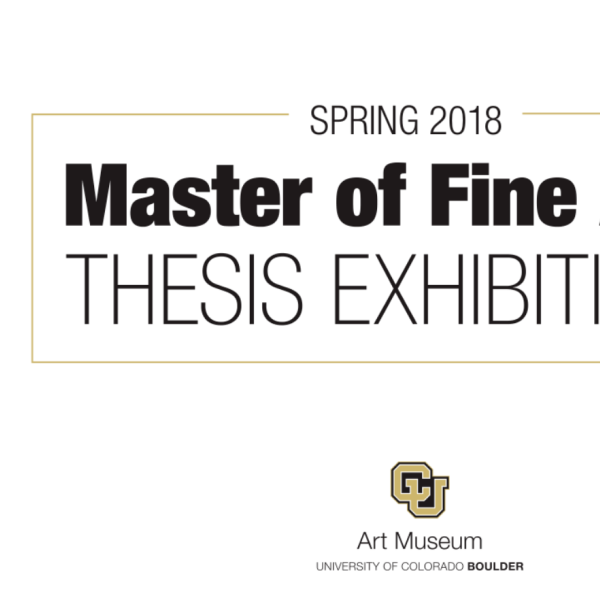 "Text that reads ""Spring 2018 Master of Fine Arts"""