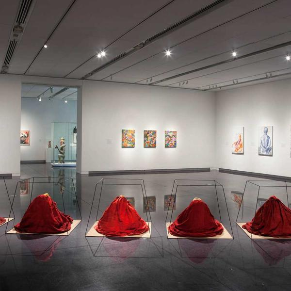 Installation view of the Anonymous exhibition