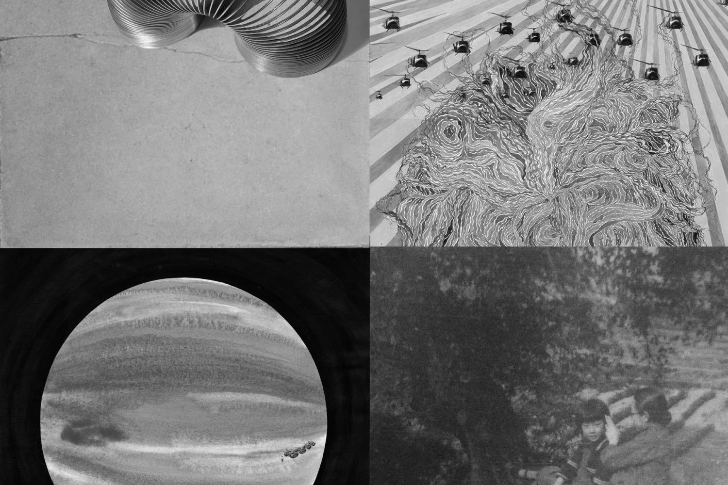 black and white details of objects