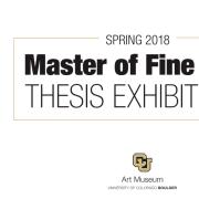 Spring 2018 Master of Fine Arts