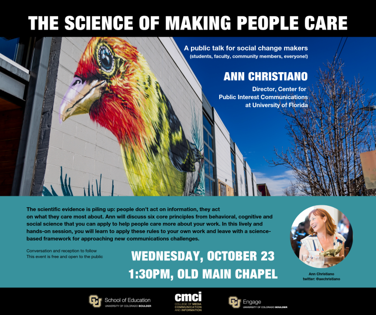 ann christiano science making people care public interest communications